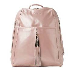 Stunning Blush Pink Leather Backpack - Travel Bag Laptop Bag Womens Work Bag