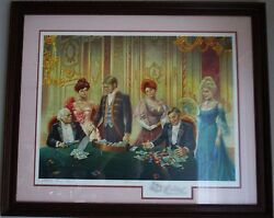Lee Dubin Limited Edition Lithgraph Baccarat Player