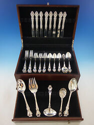 Spanish Baroque By Reed And Barton Sterling Silver Flatware Set 8 Service 45 Pcs