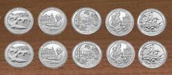 2017 National Park Quarters Pand D Yearly Uncirculated 10 Coins Effigy To Clark