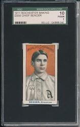 Chief Bender 1911 D359 Rochester Baking Sgc 10 1 Great Eye Appeal