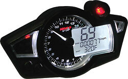 Koso Gp Style Multi-function Gauge Rx-1n Black Panel Part Ba011w02 New