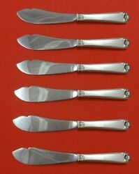 George Ii Rex Hand Chased By Watson Sterling Silver Trout Knife 6-pc Hhws Custom