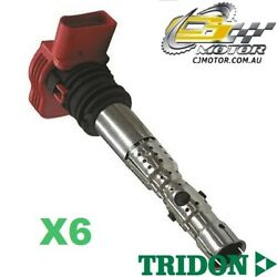 Tridon Ignition Coil X6 For Audi A4 06/01-03/05 V6 3.0l Bbj