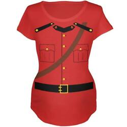 Halloween Canadian Mountie Police Costume Maternity Soft T Shirt $21.95