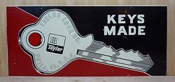 Old Taylor Lock Co Phila Pa Usa Hardware Store Double Sided Adv Sign Keys Made