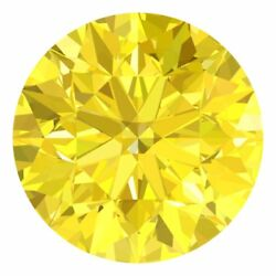 3.3 Mm Certified Round Fancy Yellow Color Si Loose Natural Diamond Wholesale Lot