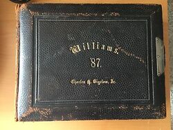 Vintage Victorian Bound Yearbook Williams College Class Of 1887 Photos By Pach