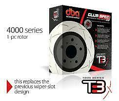 T3 4000 Series Rear Slotted Rotors X 2 For Holden Commodore Vp Vr Vs No Irs