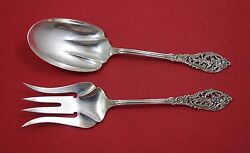 Florentine Lace By Reed And Barton Sterling Silver Salad Serving Set 2pc As 9