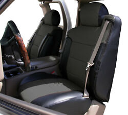 CHEVY SILVERADO 2003 06 BLACK CHARCOAL S.LEATHER CUSTOM FRONT SEAT amp; 2ARM COVER $159.00