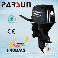 New 40 HP Parsun Outboard Motor Remote Controls Long Shaft Electric Start