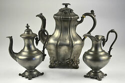 Reed And Barton Silver Teapot Creamer Flower Sterling Coffee Pot Plate Or And 1766