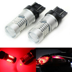 2 Brilliant Red 30-smd 7440 7443 Led Bulbs For Turn Signal Backup Drl Lights