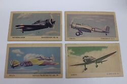 Tydol Flying A Gasoline Veedol Oil Military Fighter Planes 13 Trading Cards Wwii