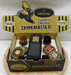 Vintage Griffin Cordless Electric Shinemaster Shoe Polisher with Display Box