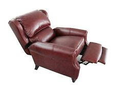 Genuine Barcalounger Pushback Top Grain Leather Recliner Lounge Chair - Treyburn