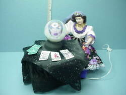 Dollhouse Miniature Fortune Teller And Table 12 Volt Globe Handcrafted 1/`12th