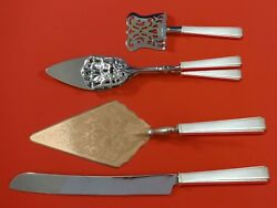 Modern Classic By Lunt Sterling Silver Dessert Serving Set 4pc Custom Made
