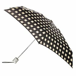 Totes Micro Fashion Micro AOC Umbrella - Grid - One Size