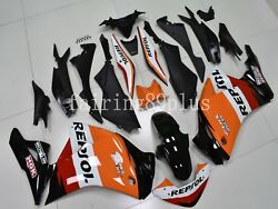 Black Orange Red Repsol Abs Injection Fairing Kit Fit For 2011-2013 Cbr250r