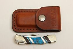 Schrade Uncle Henry Lb-3 David Yellowhorse In Box W/sheathe Turquoise White Usa