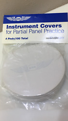 Instrument Covers For Partial Panel Practice By Asa 100 Sheets P/n Asa-sticky
