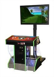 2019 Golden Tee Golf Arcade Game in the Funglo V4 Pedestal