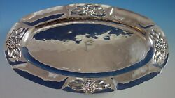 Aztec Rose By Unknown Mexican Mexico Sterling Silver Platter 14 1/2 1857