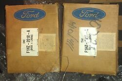 Set Of 2 Genuine Ford Heavy Truck / Sterling F1hz-2018-a Shoe And Lining Kit