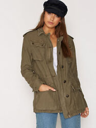 148 Free People Not Your Brotherand039s Military Style Jacket Olive Khaki S M Nwt