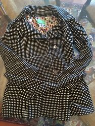 Nwot Collection 66 Size 42/8 Gorgeous Polka Dot Peacoat