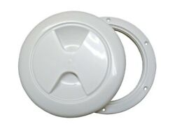 Threaded Hatch Cover Polypropylene With Rubber Gasket White 5 Inch = 127mm