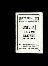 Ss Belgenland Sight-seeing And Transport Arrangements 1925 Calcutta India Booklet