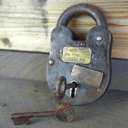 Alcatraz San Francisco Death Row 3quot; x 5quot; Cast Iron Lock amp; Keys Antique Finish
