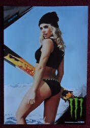 Sexy Girl Dorm Poster Monster Energy Drink MONIKA Snowboard Snow Board