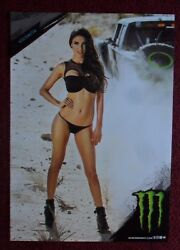 Sexy Girl Dorm Poster Monster Energy Drink VICTORIA Baja Desert Truck Race