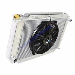 Aluminum Racing 3 Row Radiator+14 Fans Fits 79-93 Ford Mustang Glx Lx Gt Svt