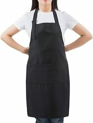 Flame Retardant Coating Apron Stiff Bib Apron with Pockets&Adjustable 100%Cotton