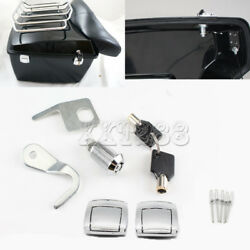 Tour Pak Premium Latches Hardware Lock & Key Kit For Harley 97-13