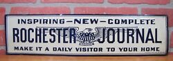 Orig Old Rochester Evening Journal Embossed Tin Newspaper Sign Grimm St Louis Mo