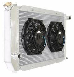 Aluminum Racing 3 Row Radiator+10 Fans Fits For 71-73 Ford Mustang V8 Mt Only