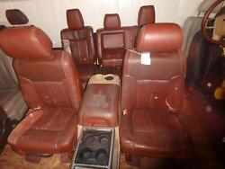 99-16 FORD F250 F350 FRONT REAR SEAT CONSOLE KING RANCH LEATHER HEAT POWER