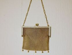 Vintage German Silver Mesh Purse with Chain Handle