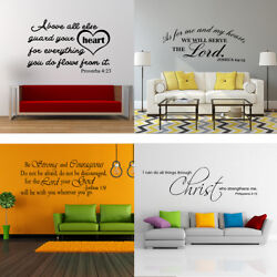 Bible Verse Wall Decals Christian Quote Vinyl Wall Art Stickers Religious Decor