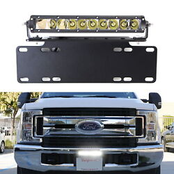 50W CREE LED Lightbar wLicense Plate Mount Bracket Wiring 4 All Truck SUV Jeep