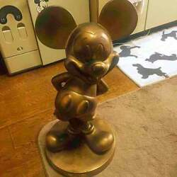 For Disney Lover Super Rare Anniversary Mickey Bronze Limited To 3000 Items F/s