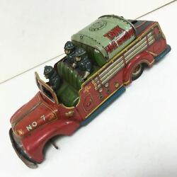 Vintage Rare Tin Toy Fire Engine Car Wash Car Junk From Japan Free Shipping