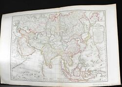 Antique 1798 Carte De Asie Dressee Map Of Asia China Japan Middle East India....