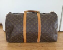 .LOUIS VUITTON KEEPALL MONOGRAM LUGGAGE BAG SIZE 50